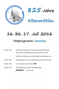 Festprogramm Altenmittlau 1
