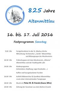 Festprogramm Altenmittlau 2